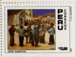 Sellos del Mundo : America : Perú : Pintura de Jose Sabogal