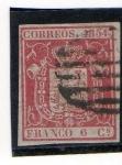 Sellos del Mundo : Europa : España : Escudo de España (1854)