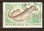 Sellos del Mundo : Africa : República_del_Congo : Chauliodus sloani (Sloane pez víbora).