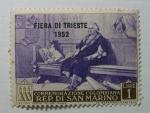 Sellos del Mundo : Europa : San_Marino : Muestra de la feria de Trieste en 1952.