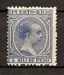 Sellos del Mundo : America : Puerto_Rico : Alfonso XIII .