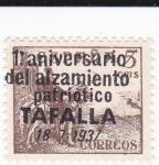 Sellos de Europa - España -  el Cid- 1 aniversario del alzamiento patriótico TAFALLA 18-7-1937