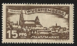 Sellos de Europa - Alemania -  German States-Wurttemberg-View of Stuttcart North