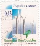 Sellos de Europa - España -  energías renovables-eólica