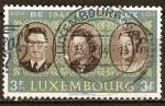 Sellos de Europa - Luxemburgo -  20a Aniv de Benelux Rey Balduino, reina Juliana y la Gran Duquesa Charlotte.