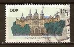 Sellos de Europa - Alemania -   Castillo de Schwerin -DDR.