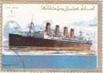 Sellos de Asia - Emiratos Árabes Unidos -  buques-titanic