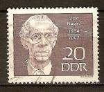 Sellos de Europa - Alemania -  Otto Nagel 1894-1967 (pintor)DDR.