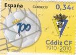 Sellos de Europa - España -  Centenario Cadiz CF