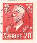 Sellos de Europa - Suecia -  85º ANIV. DEL REY GUSTAVO V. Y&T Nº 298