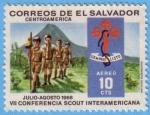 Sellos de America - El Salvador -  VII Conferencia Scout Interamericana