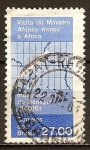 Sellos del Mundo : America : Brasil : Visita del Ministro Afonso Airiños á Africa.Independencia del Senegal,1960/61.