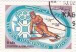 Sellos del Mundo : Asia : Afganistán : J.J.O.O. - SARAJEVO -84  - Esquí de slalom