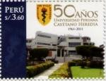 Sellos del Mundo : America : Perú : 50 Aniversario FFCC medicina Cayetano