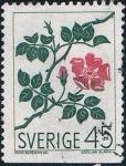 Sellos de Europa - Suecia -  FLORES SALVAJES DE LOS PAISES NÓRDICOS. ROSAL SILVESTRE. Y&T Nº 592