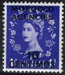 Sellos de Europa - Reino Unido -  Isabel II,  colonias, ( Marruecos )