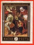 Sellos de Europa - Hungría -  Jan Steen: a Macskacsalad