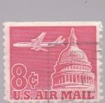 Sellos del Mundo : America : Estados_Unidos : Capitolio y avión