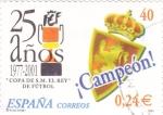 Sellos de Europa - España -  copa del rey de futbol-campeón  R.Zaragoza    (A)