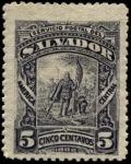 Sellos del Mundo : America : El_Salvador : Desembarco de Colón.