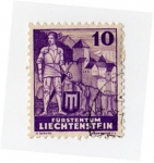 Sellos del Mundo : Europa : Liechtenstein : Hartmann von Sargan y castillo Vaduz