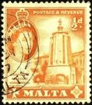 Sellos del Mundo : Europa : Malta : Abrevadero en Acueducto Wignacourt.