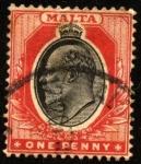Sellos del Mundo : Europa : Malta : Efigie de Eduardo VII.
