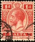 Sellos del Mundo : Europa : Malta : Efigie de Georges V.