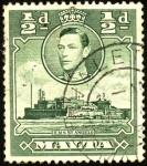 Sellos del Mundo : Europa : Malta : George VI, fuerte San Angelo.