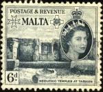 Sellos del Mundo : Europa : Malta : Templo neolítico de Tarxien.