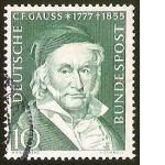 Sellos del Mundo : Europa : Alemania : C.F. GAUSS (1777 - 1855) - DEUTSCHE BUNDESPOST