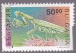 Sellos de Europa - Bulgaria -  insectos- amantis religiosa