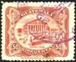 Sellos del Mundo : America : Guatemala : Teatro Colón. UPU 1902.