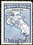 Sellos del Mundo : America : Costa_Rica : Centenario de la guerra 1856-1857 Mapa de Costa Rica.