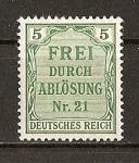 Sellos de Europa - Alemania -  Servicio./ Imperio.