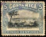 Sellos del Mundo : America : Costa_Rica : Puerto Limón. UPU 1900.