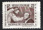Sellos del Mundo : Europa : España : Sello escolar. Mutualidad nacional de enseñanza primaria.