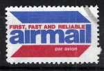 Sellos del Mundo : America : Estados_Unidos : Etiqueta de correo aereo. AIRMAIL.