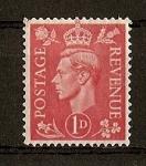 Sellos de Europa - Reino Unido -  Jorge VI ./ Fondo Claro.