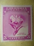 Sellos del Mundo : America : Colombia : 75° Aniversario de la Unión Postal Universal (Scott/443/9)-CATTLEYA  LABIATA  TRIANIAE-Colombia 1874