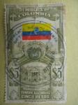 Sellos del Mundo : America : Colombia : República de Colombia - Capitolio - Bandera-Estampilla de Timbre Nacional