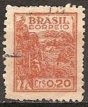 Sellos del Mundo : America : Brasil :  Maquinaria de cosecha de trigo.