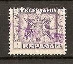 Sellos del Mundo : Europa : España : Telegrafos / Escudo de España.