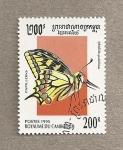 Sellos del Mundo : Asia : Camboya : Mariposa Iphiclides podalirius