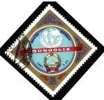 Sellos del Mundo : Asia : Mongolia : Emblema de la ONU y escudo de Armas Mongolia.