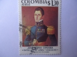 Sellos del Mundo : America : Colombia : José María Córdoba - Sesquicentenario de la Batalla de Junín (1824-08.06) y Ayacucho (1824-12-09)