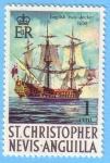 Sellos de America - San Cristóbal y Nevis -  English two-decker