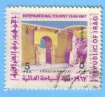 Sellos de Asia - Irak -  Año Internacional del Turismo
