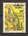 Sellos de Africa - Mali -  Animales Prehistoricos / Iguanodon.