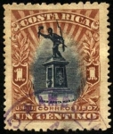 Sellos del Mundo : America : Costa_Rica : Monumento a Juan Santa María. UPU 1907.